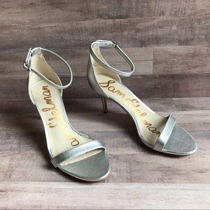 Sam Edelman Patti Silver Ankle Strap Heels